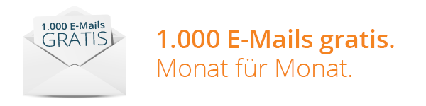 1000 E-Mails gratis versenden