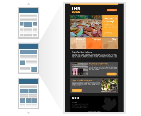 Kostenlose Newslettervorlagen der E-Mail Marketing Software