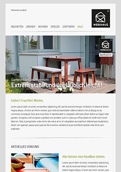 Beispiel-Vorlage Template - Newsletter2Go
