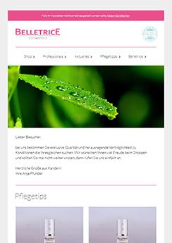 Newsletter Vorlage Template Beispiel - Newsletter2Go