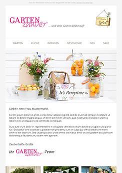 Beispiel Template Vorlage - Newsletter2Go