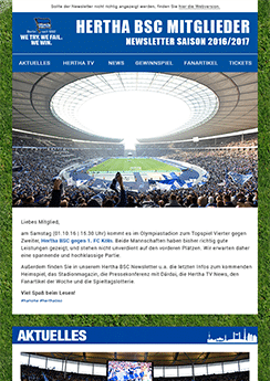 Hertha Template Vorlage - Newsletter2Go