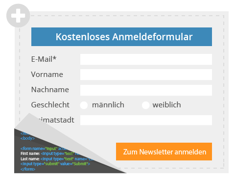 Kostenloses Newsletter Anmeldeformular