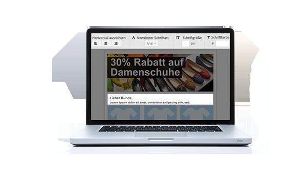 Email Marketing ganz einfach - dank Baukasten-Editor