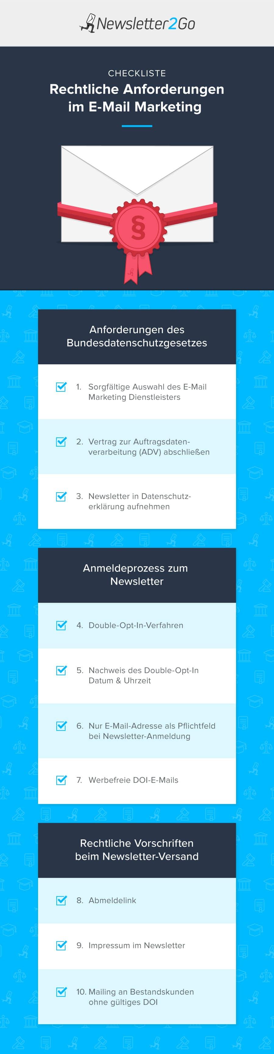 E-Mail Marketing Datenschutz Checkliste
