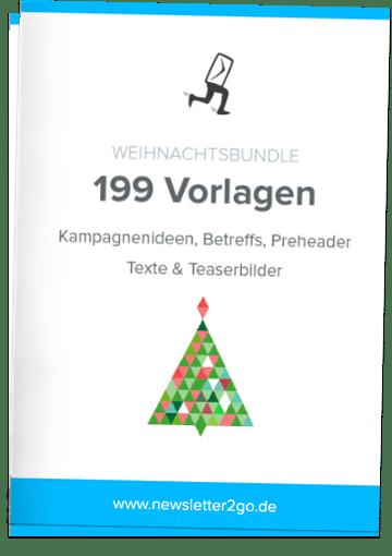 Weihnachtsbundle mit 199 E-Mail Vorlagen, Headerbildern und Kampagnenideen - Newsletter2Go