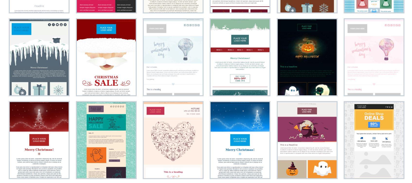 kostenlose newsletter templates von newsletter2go. Black Bedroom Furniture Sets. Home Design Ideas