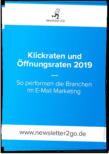 Coverbild Branchen Benchmark E-Mail Marketing 2019 - Newsletter2Go